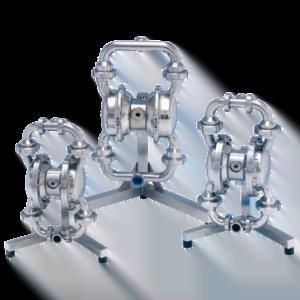 Depa pneumatisk membranpump, rostfritt stål serie L